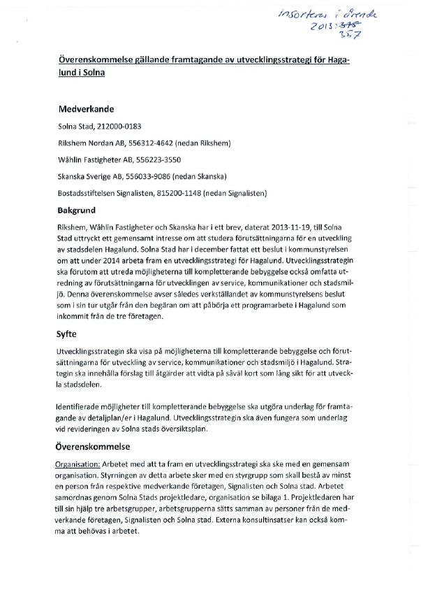 Överenskommelse-mellan-Solna-Stad-och-Skanska,-Rikshem,-Wåhlin-Fastighter-och-Signalisten-om-att-ta-fram-en-utvecklingsstrategi